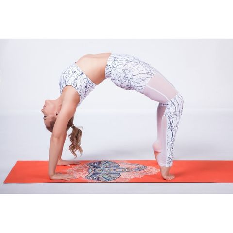 Коврик для йоги Слон 173*62*0,3 см из микрофибры и каучука