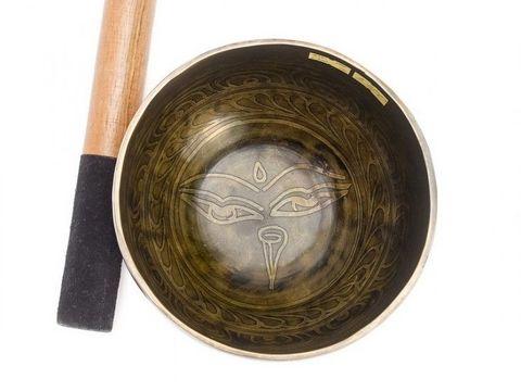 Кованая поющая чаша Itching Carving ОМ Санскрит