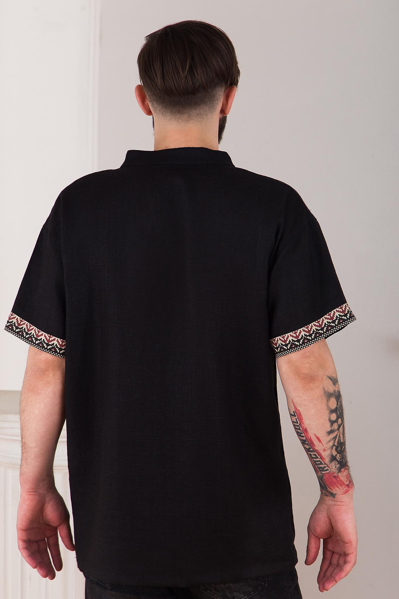 рубаха в русском стиле из льна