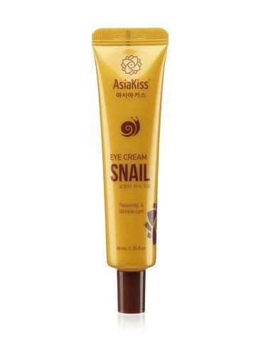Крем для кожи вокруг глаз с экстрактом слизи улитки AsiaKiss Snail 40 мл