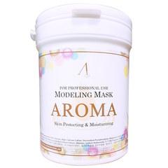 Антивозрастная альгинатная маска Anskin Aroma Modeling Mask с питательным эффектом 240 гр банка