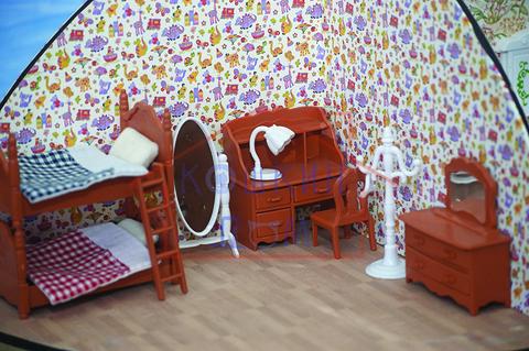Кукольная мебель для детской комнаты Happy family