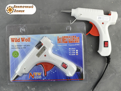 Клеевой пистолет для силиконовых палочек БЕЛЫЙ  диаметром 7 мм