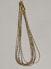 Браслет из серебра,7 нитей, трехцветный (серебряный браслет).