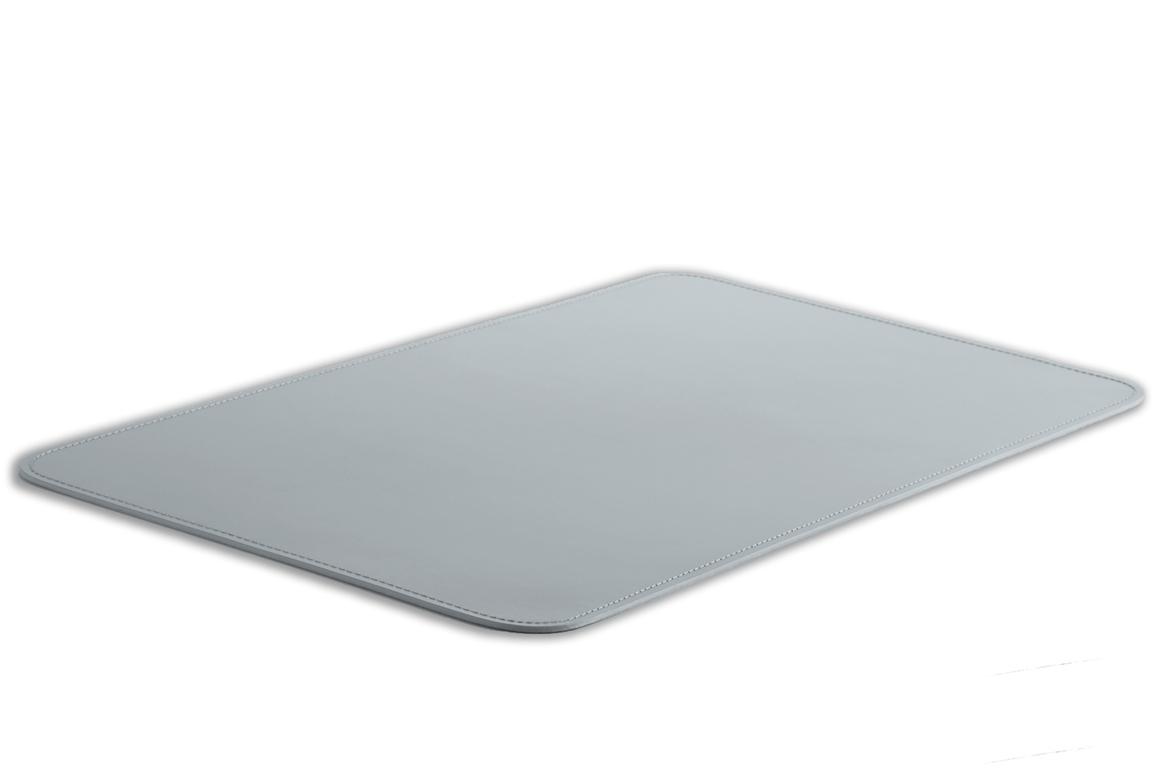 Бювар из итальянской кожи Cuoietto модель №9 цвет серый вид сбоку.