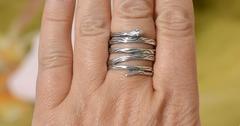 Змейка широкая (кольцо из серебра)