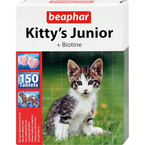 Beaphar Кормовая добавка Kitty's Junior с биотином для котят 150 таб.