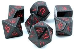 Набор кубиков Elvish Black & red