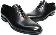 Туфли осень мужские Ikos 006-1 Black