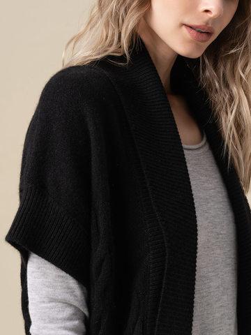 Женский жилет черного цвета из 100% кашемира - фото 3