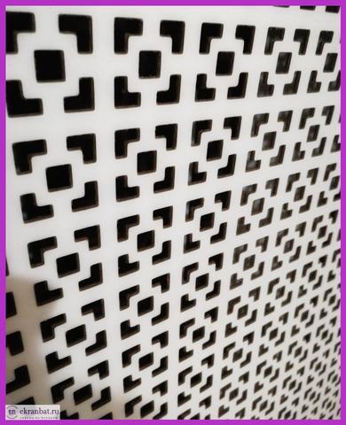 Ламинированная панель ХДФ в белый цвет, с перфорацией глория.