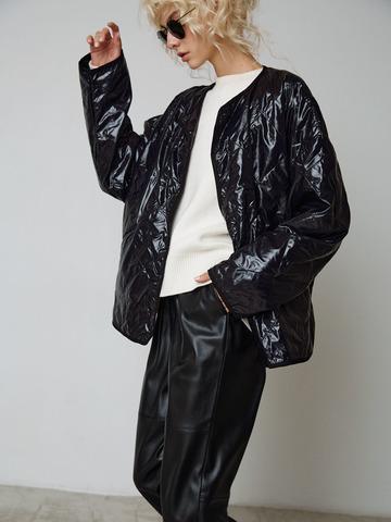 Куртка тонкая стеганая черный