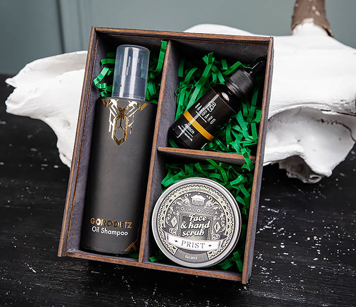 BOX245-1 Деревянная подарочная коробка с тремя отделениями, А6 (19*15*8,5 см) фото 07
