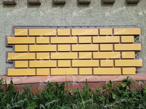 Фасадная панель Альта Профиль Кирпич клинкерный Желтый 1220х440 мм
