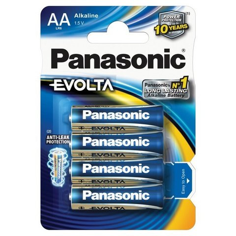 Батарейки Panasonic Alkaline Evolta LR6, AA (4/48) BL
