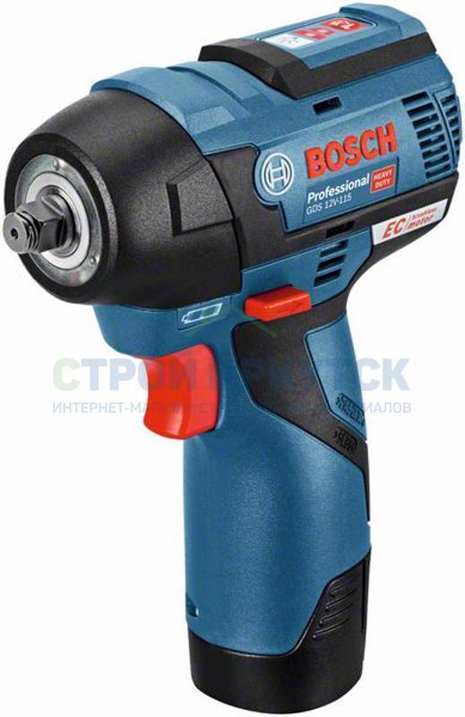 Гайковерты Аккумуляторный ударный гайковёрт Bosch GDS 12V-115 (06019E0101) 562436510c509f96a9c1465c10dee489