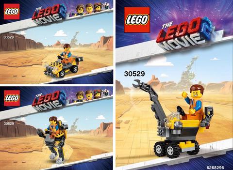 LEGO Movie 2: Минитрансформер Эммета 30529 — Mini Master-Building Emmet — Лего Муви Фильм