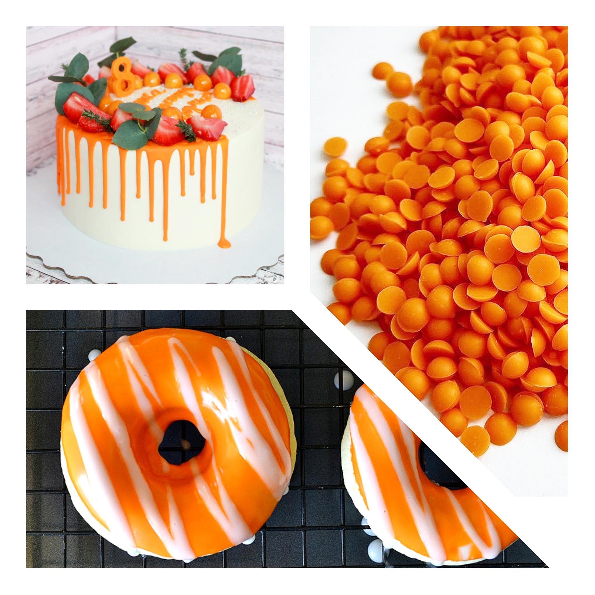 Глазурь кондитерская с ароматом апельсина, 100г.