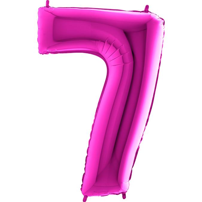 Цифра фуксия 7