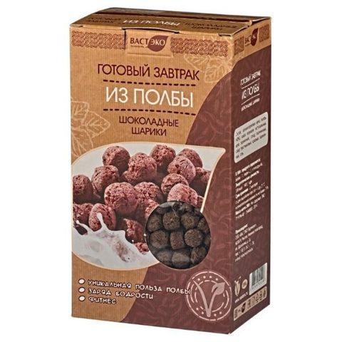Готовый завтрак из полбы Шоколадные шарики, 200 гр. (ВАСТЭКО)