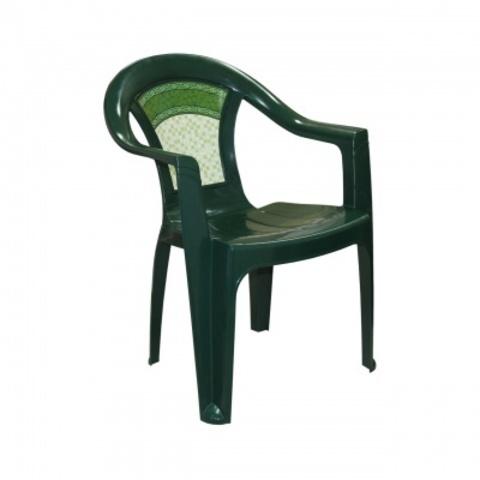 Стул Малахит пластиковый темно-зеленый