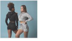 Женская укороченная толстовка Gorilla wear Pixley black