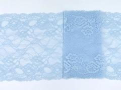 Эластичное кружево, 21,5 см, нежно-голубое, (Арт: EK-2144), м