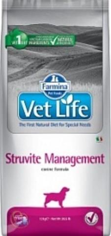 Корм для собак Farmina Vet Life Management Struvite при мочекаменной болезни 12 кг