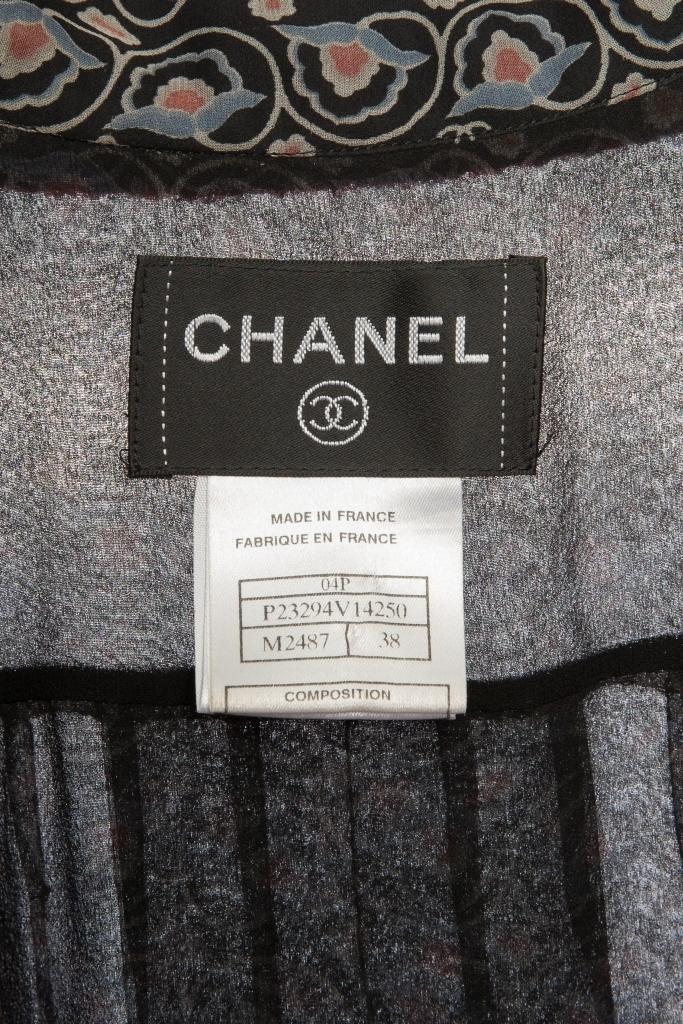 Изысканное шелковое платье от Chanel, 38 размер.