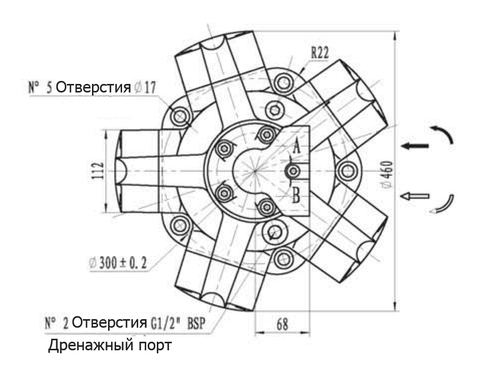 Гидромотор IPM6-800