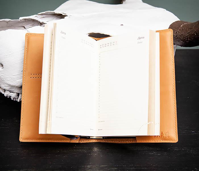BY05-51-01 Кожаный подарочный ежедневник «Все идет по плану» (А6) фото 08