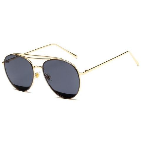 Солнцезащитные очки 9202003s Черные в золотой оправе