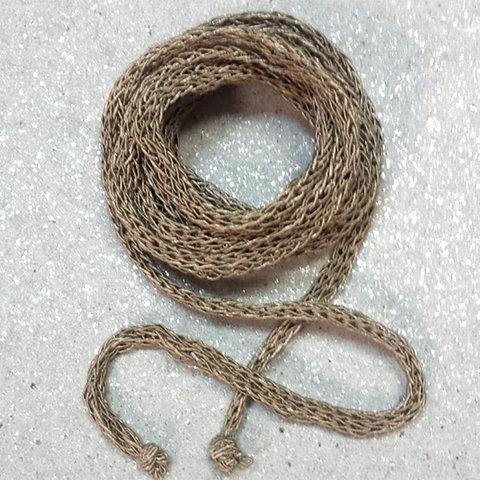 Вязание полого шнура на машине и на спицах