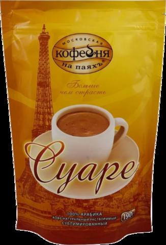Кофе растворимый Московская кофейня на паяхъ Суаре, пакет 190 г