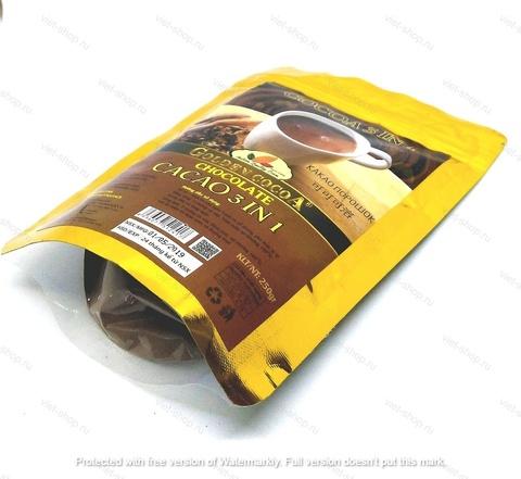 Вьетнамский какао-порошок Hucafood зип-пакет, 3 в 1, 500 гр.