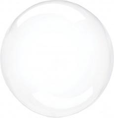 К 18''/46 см, Сфера 3D, Deco Bubble (Бабл), Прозрачный, Кристалл, 1 шт.
