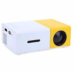 YG-300A портативный мини проектор со встроенным аккумулятором Led Projector желтый