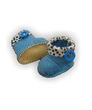 Сапожки с отворотом - Голубой. Одежда для кукол, пупсов и мягких игрушек.