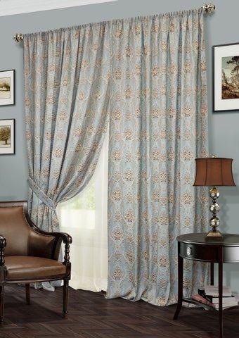 Комплект штор и тюль Мерид серый