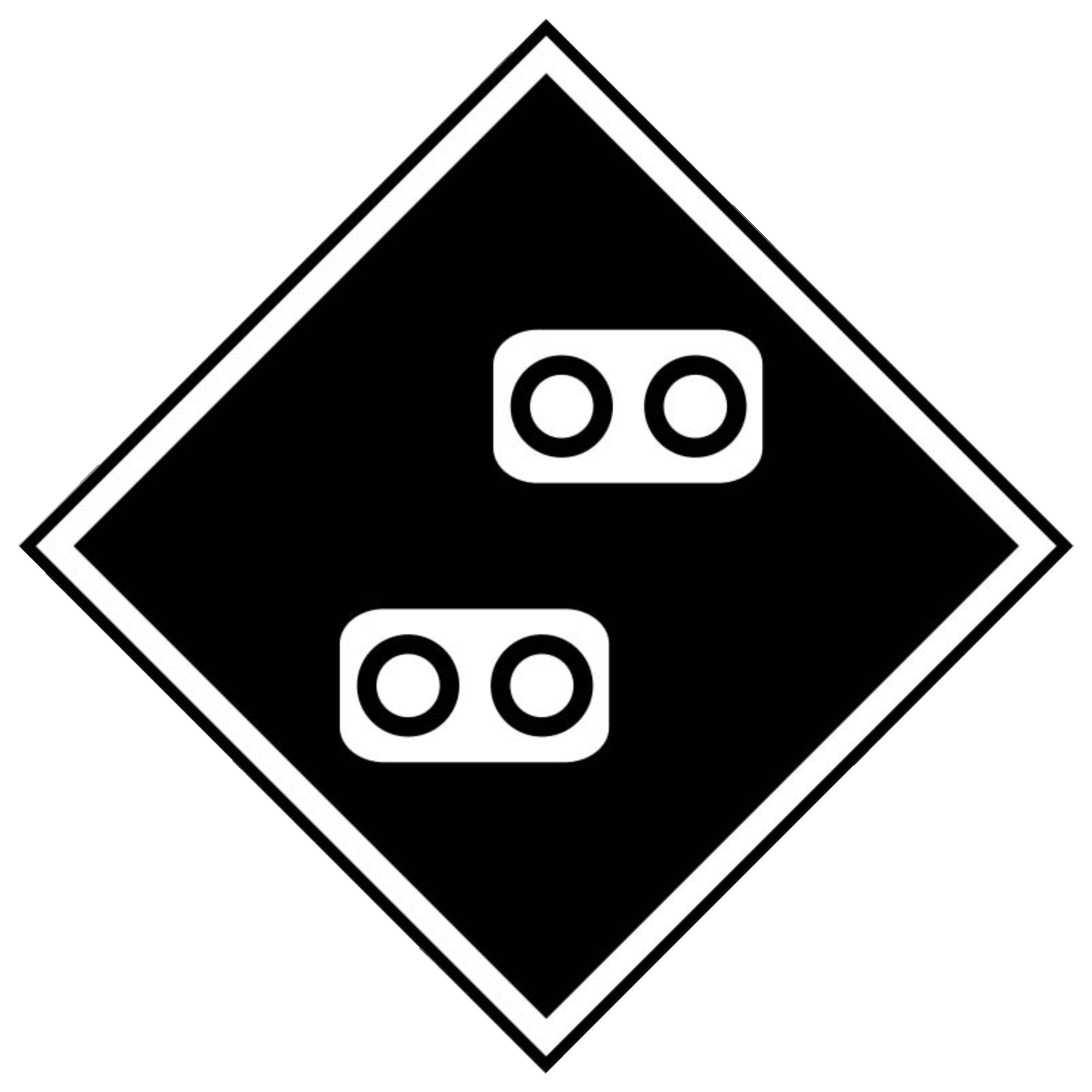 Железнодорожный знак «Внимание! Токораздел»
