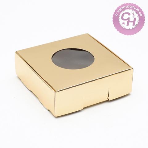 Коробка самосборная с окном, 10*10*3 см, 1 шт.
