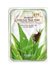БХ Маска тканевая улиточная Baviphat Snail Cure Mask Sheet 25гр
