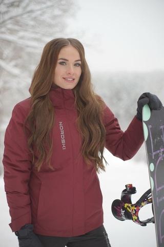 Утепленная куртка Nordski Mount Wine W женская