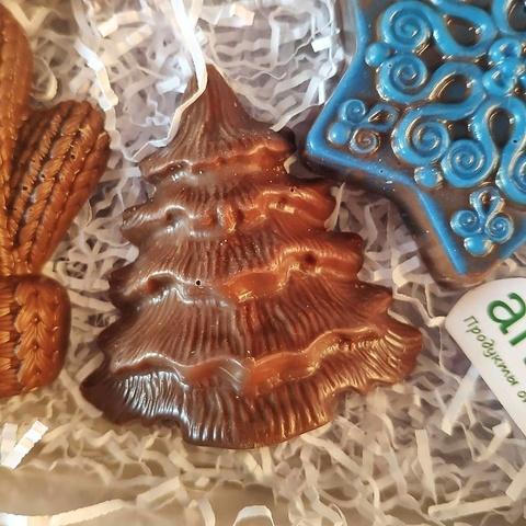 Фотография Шоколад молочный фигурный «Елочка» / 35 гр купить в магазине Афлора