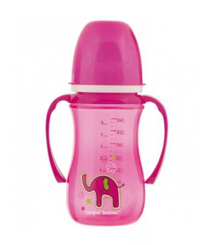 Поильник-непроливайка с мягким носиком (35/208) 240 мл, 6+ Sweet fun, цвет: (розовый)