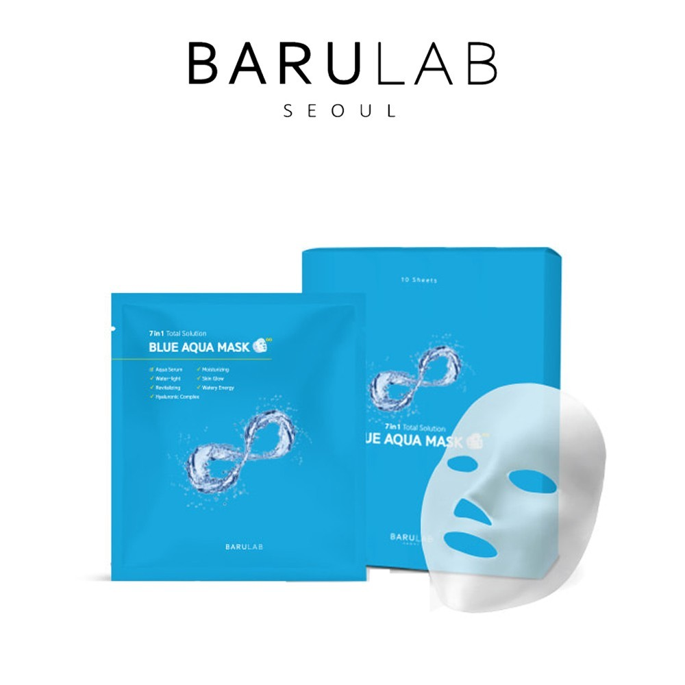 Увлажняющая маска 7in1 Barulab Total Solution Blue Aqua Mask