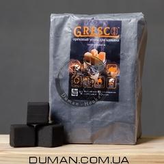 Натуральный Ореховый уголь Gresco (Греско)  1кг 72куб 25*25мм Пакет