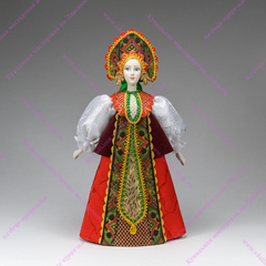 Сувенирная кукла в бархатной душегрее