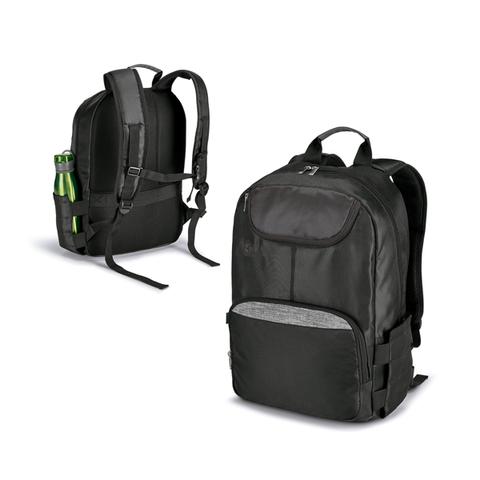 Bridge Laptop Backpack, black with grey