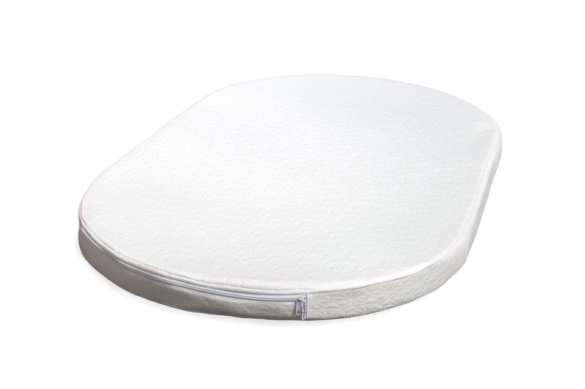 Овальный матрас для кроваток Sleepy 1230х740х80 беспружинный ЭКОНОМ